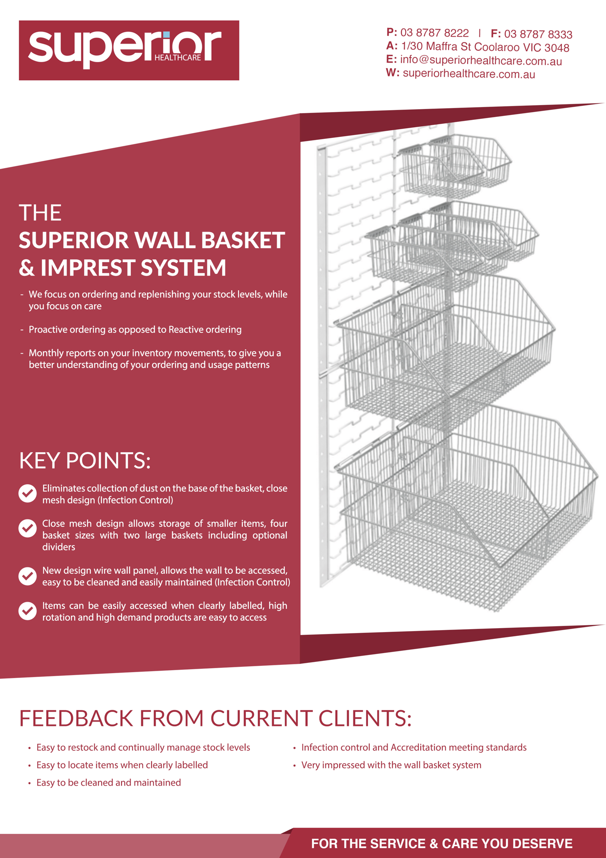 superior basket system