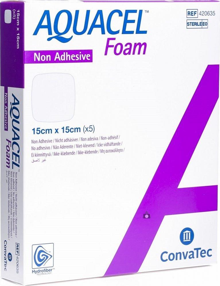 AQUACEL FOAM NON-ADHESIVE 15CMx15CM BOX 5