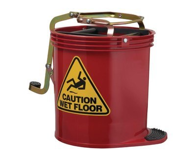 MOP BUCKET RED, EACH