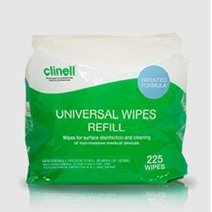 CLINELL SANITISING WIPES PACK 225 (BUCKET REFILLS), EACH