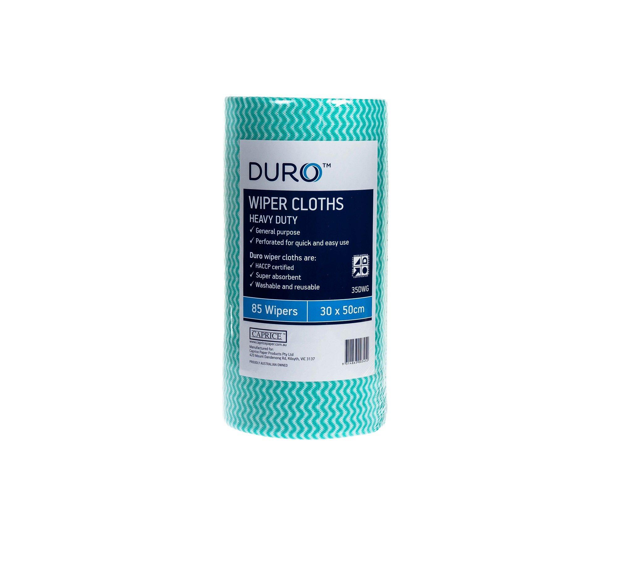 DURO WIPER ROLL HEAVY DUTY GREEN 50CMx30CM ROLL 85