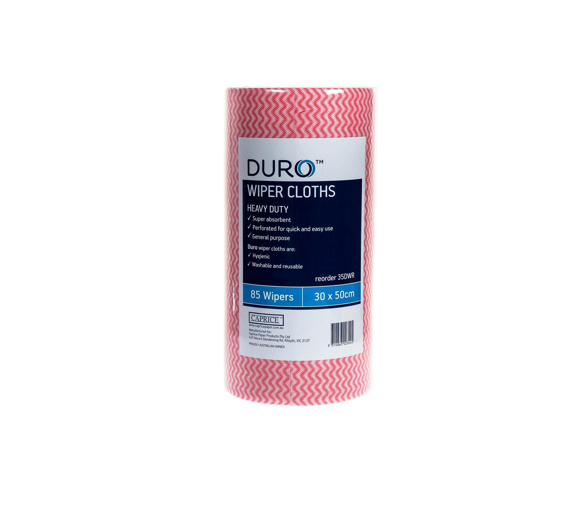 DURO WIPER ROLL HEAVY DUTY RED 50CMx30CM ROLL 85