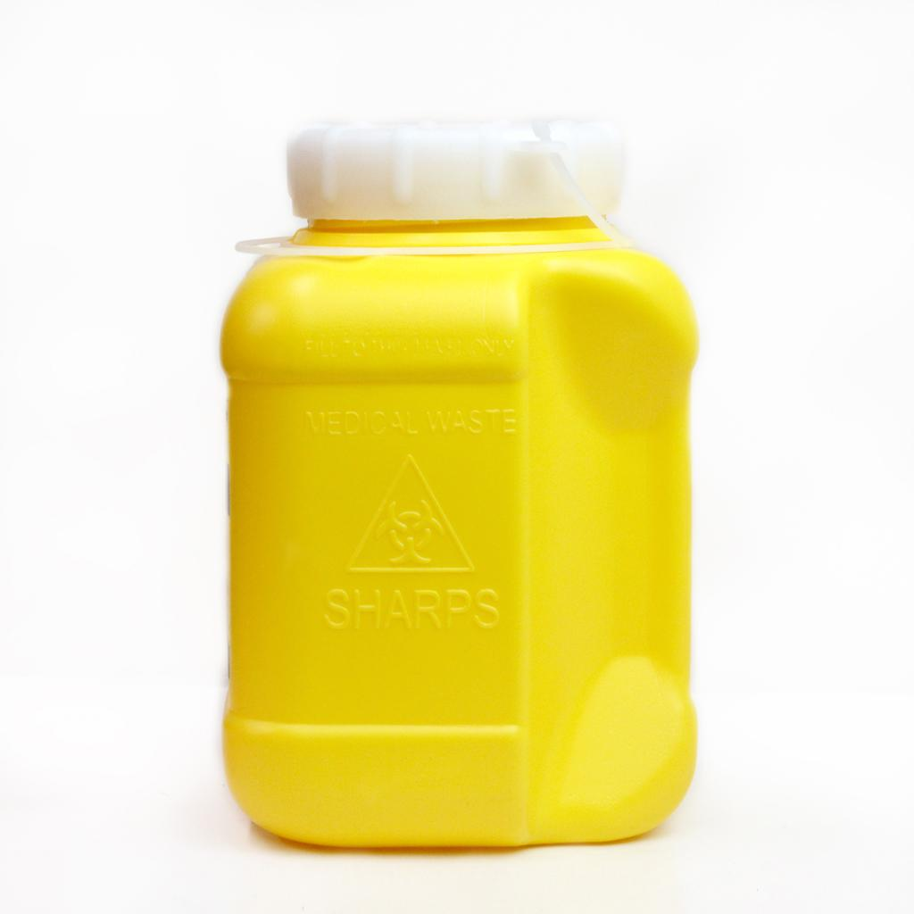 DISPOSABLE SHARPS CONTAINER YELLOW 3.2L, EACH