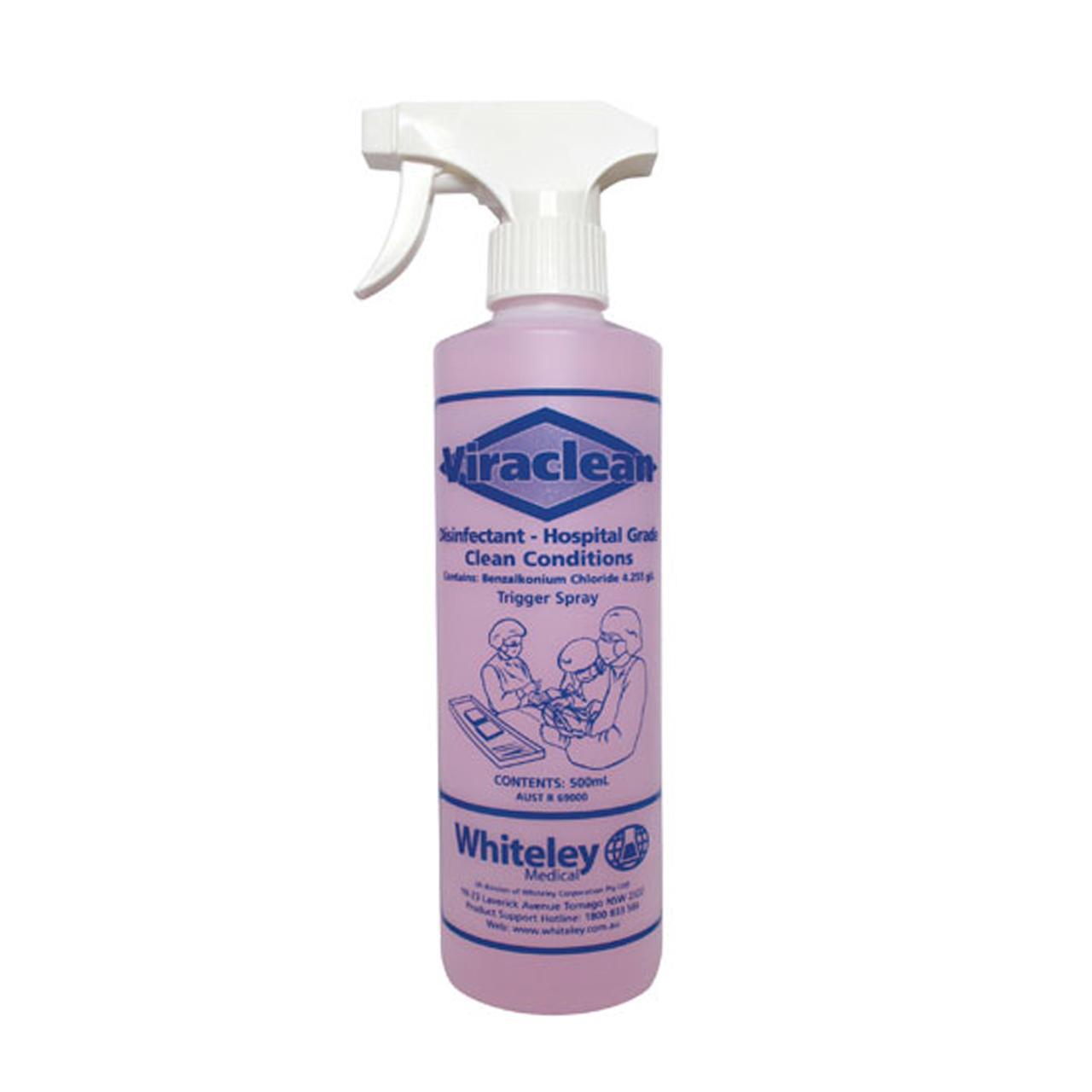 Viraclean Hospital Grade Disinfectant 500mL Spray Bottle