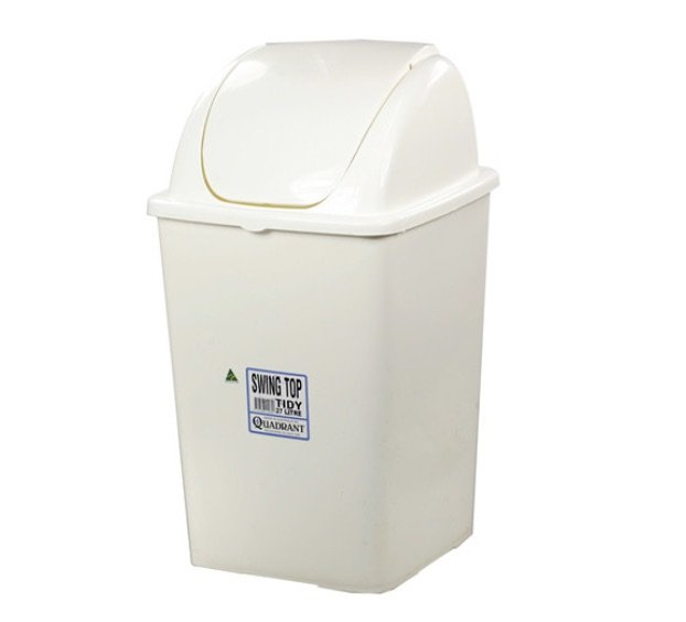 SWING TOP TIDY BIN 27L 53CM, EACH