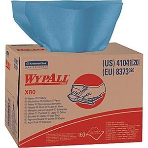 WYPALL REINFORCED WIPES BLUE, CTN 8
