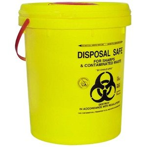 YELLOW BUCKET WASTE 20-23L YELLOW+ LID