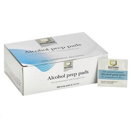ALCOHOL SWAB PREP PADS 70% 6CMx6CM, BOX 200