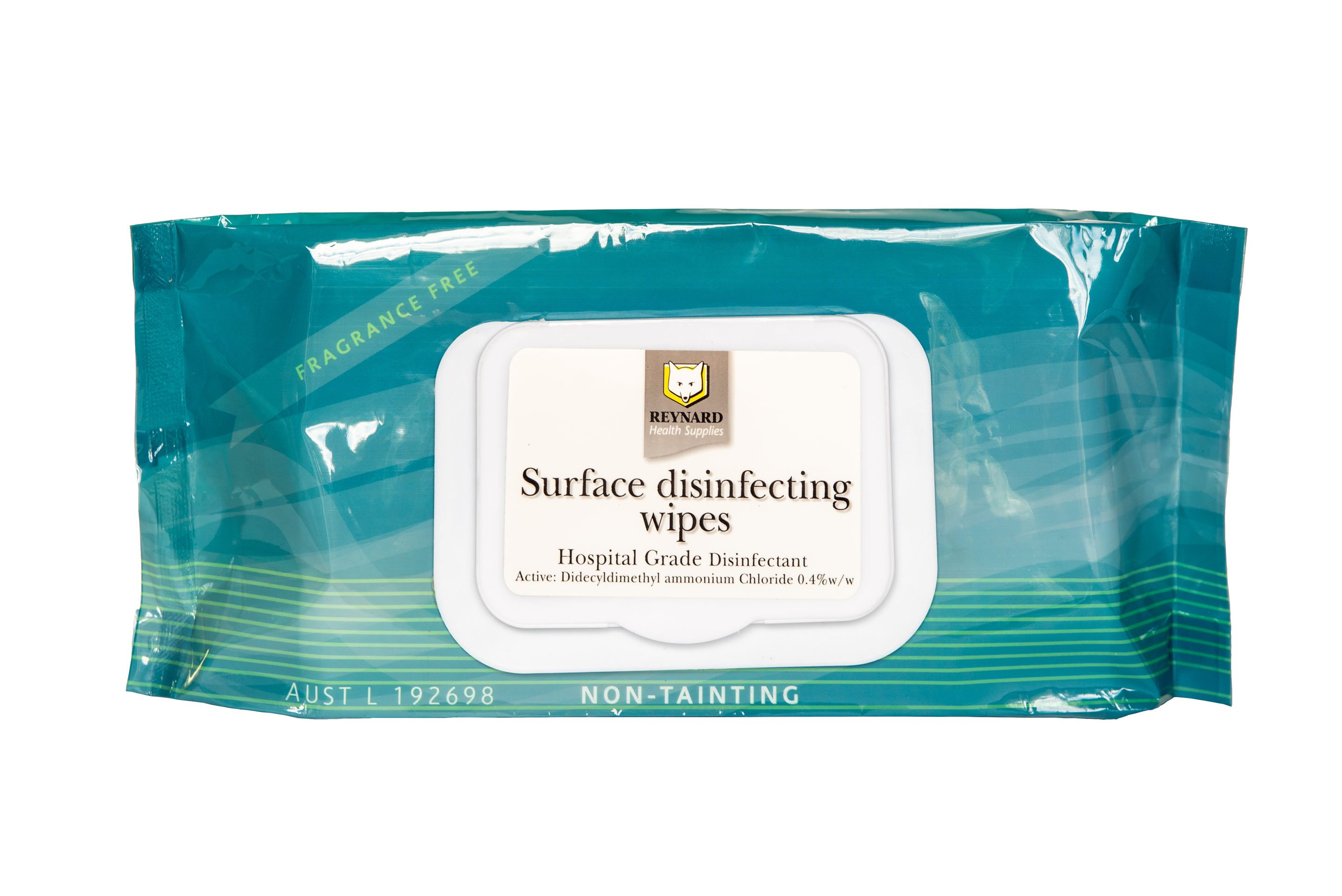 REYNARD SURFACE DISINFECTING WIPES, PKT 50