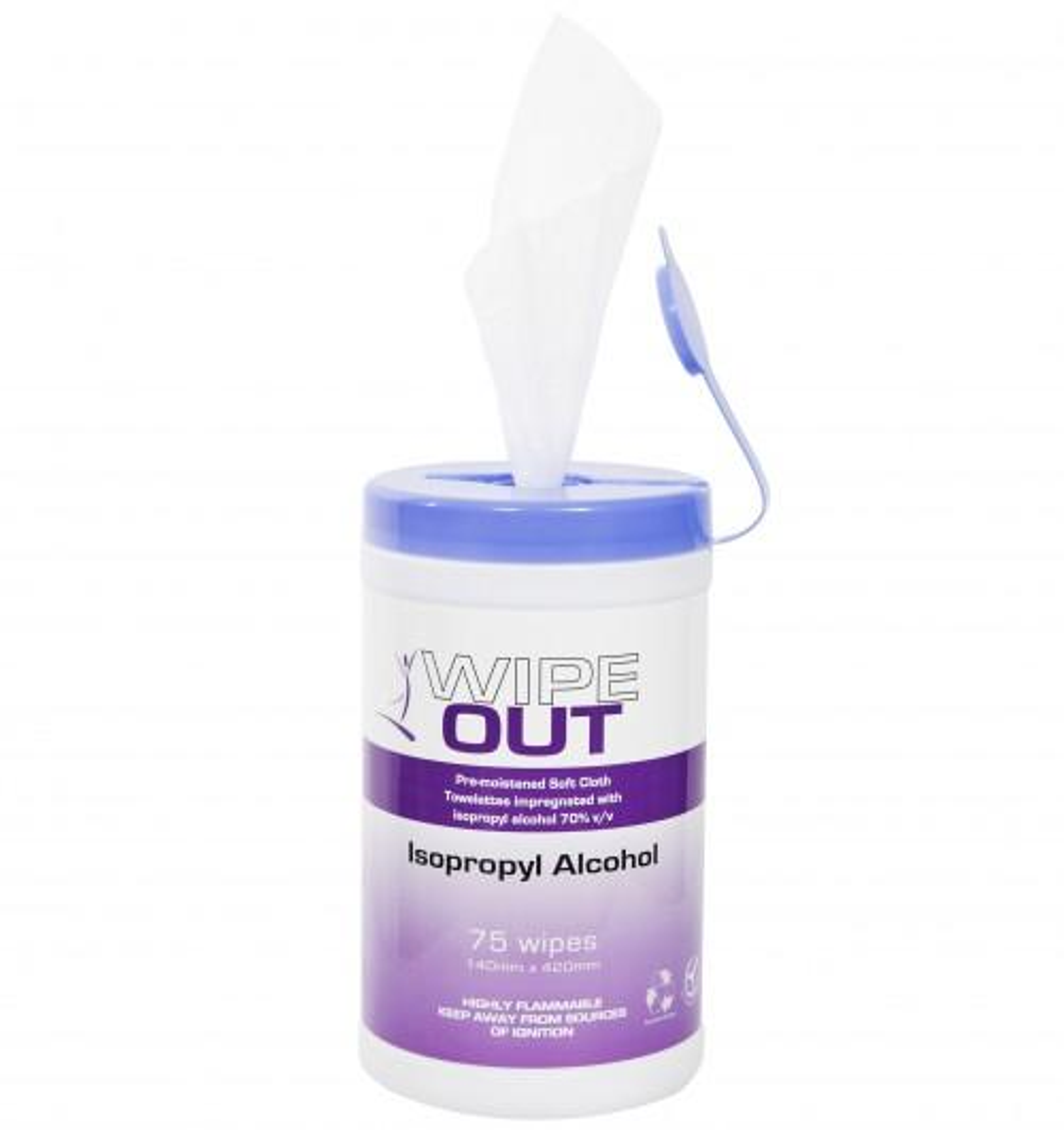 Isopropyl Wipes Ultra Health, Tub 75