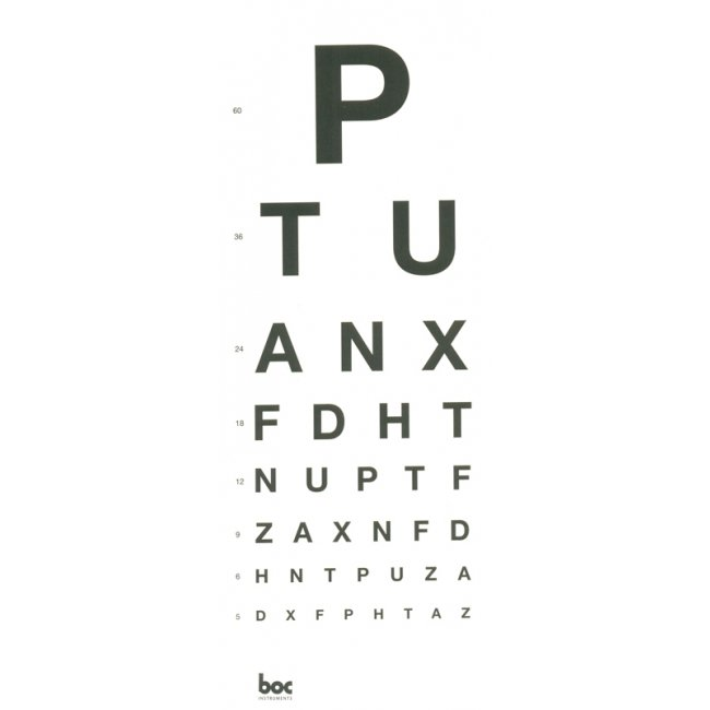 DIRECT EYE CHART 3M 'PTU', EACH