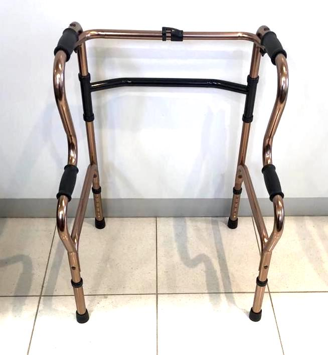 WALKER FRAME BI-LEVEL HEIGHT ADJUSTABLE BRONZE, EACH