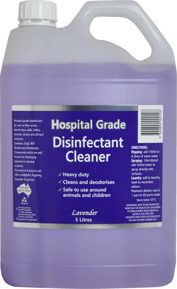 HEAVY DUTY DISINFECTANT AND CLEANER 5L, EACH