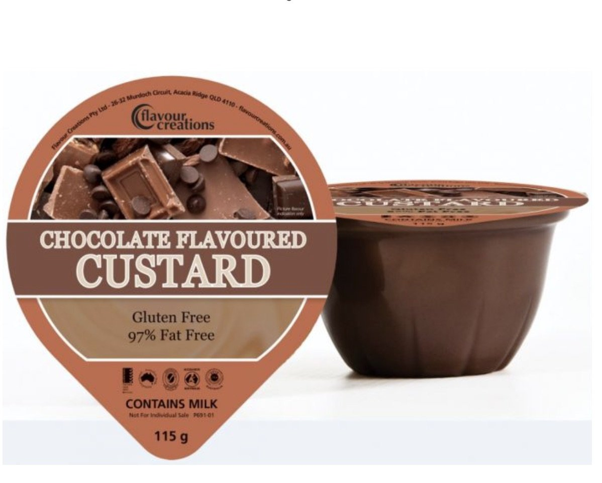 FLAVOUR CREATIONS CHOCOLATE CUSTARD 110ML, BOX 36