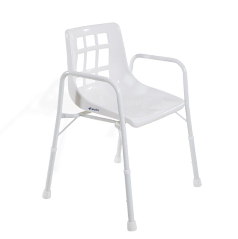 ASPIRE SHOWER CHAIR W/ARMS WIDE 200KG, EACH