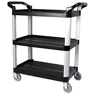 Utility Cart Black 3 TIER 103x51x96 Lge Black