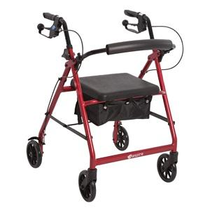 Seat Walker Aspire Classic 8 + Hand Brakes, Red, 8in Wheels, 130Kg