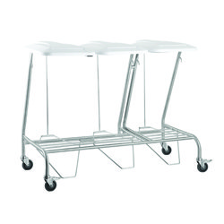 Triple Linen Skip Stainless Steel with Foot Operated Lid