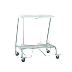 DOUBLE LINEN SKIP STAINLESS STEEL WITH FOOT OPERATED LID, EACH