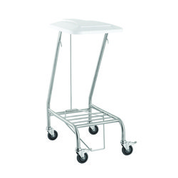 Single Linen Skip Stainless Steel with Foot Operated Lid