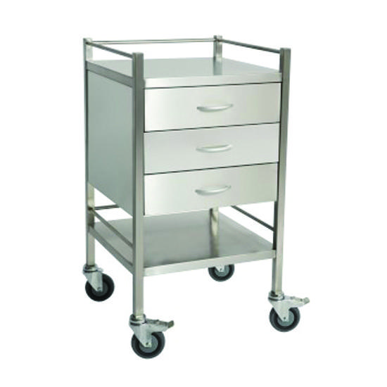 Dressing Trolley Stainless Steel 3 Draw, each