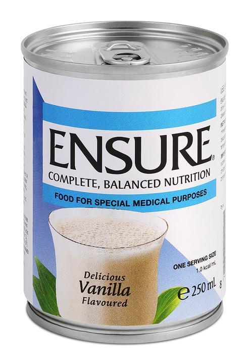Ensure Vanilla Can 250mL, Box 24