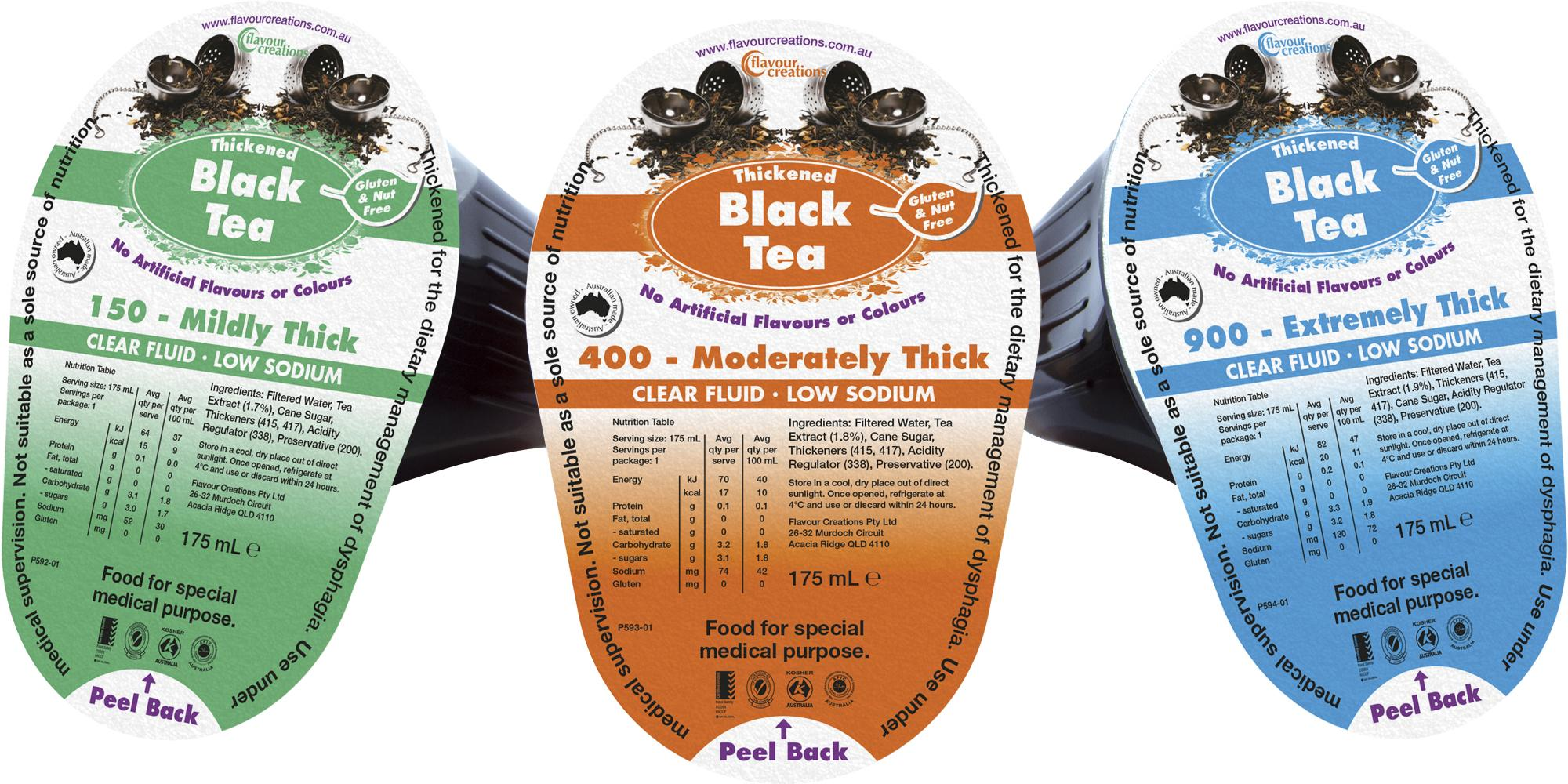 FLAVOUR CREATIONS BLACK TEA 175ML L1, Box 24