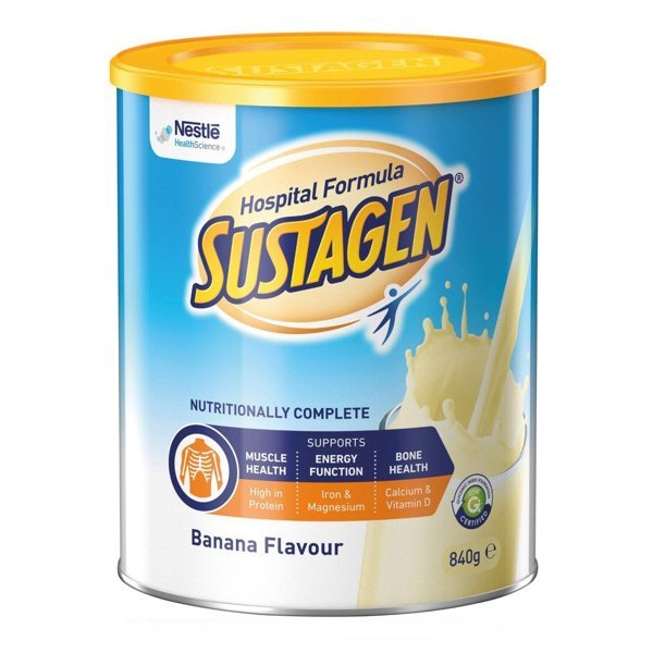 SUSTAGEN HOSPITAL ACTIVE BANANA 840G POWDER EACH