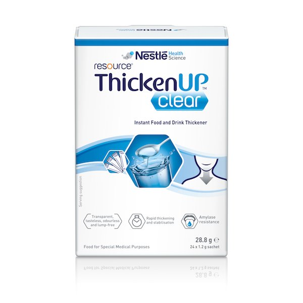 RESOURCE THICKEN UP CLEAR SACHETS 1.2G, BOX 24