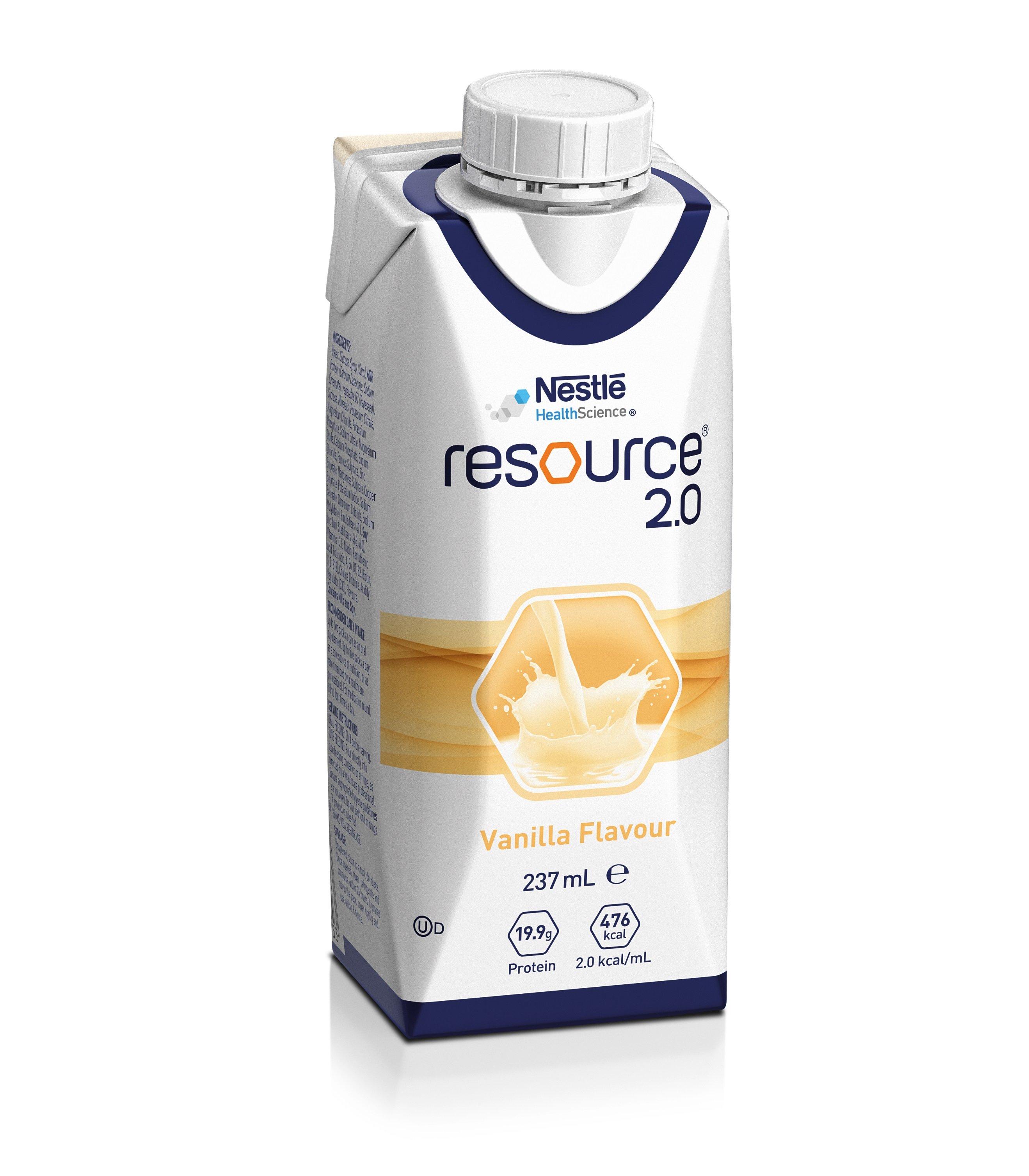 RESOURCE 2.0 VANILLA 237ML BOX 24