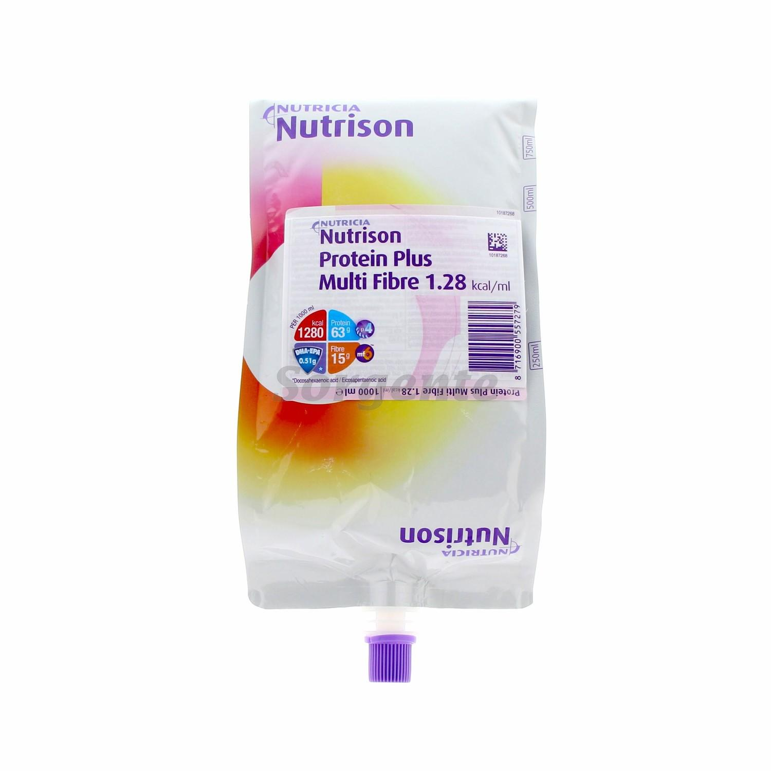 Nutrison Protein + MultiFiber 1000mL Bag, Box 8