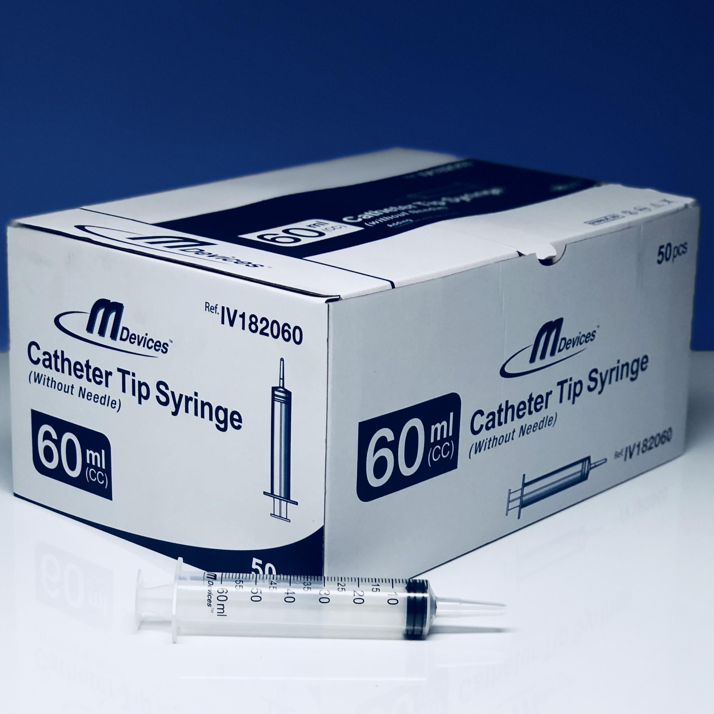 M DEVICES SYRINGE 60ML CATHETER TIP BOX 50