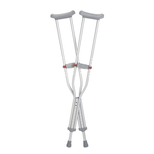 ALUMINIUM CRUTCHES UNDERARM ADULT MEDIUM 136KG, PAIR