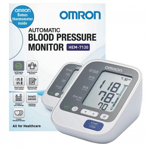 OMRON AUTOMATIC BLOOD PRESSURE MACHINE DELUXE HEM-7156 (7130 REPLACEMENT), EACH