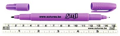 SKIN MARKER - DUAL TIP STERILE WITH RULER, EACH