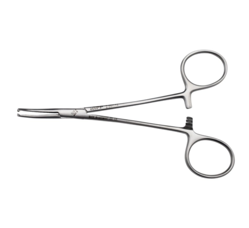 HALSTEAD MOSQUITO ARTERY FORCEP 12.5CM CURVED, EACH