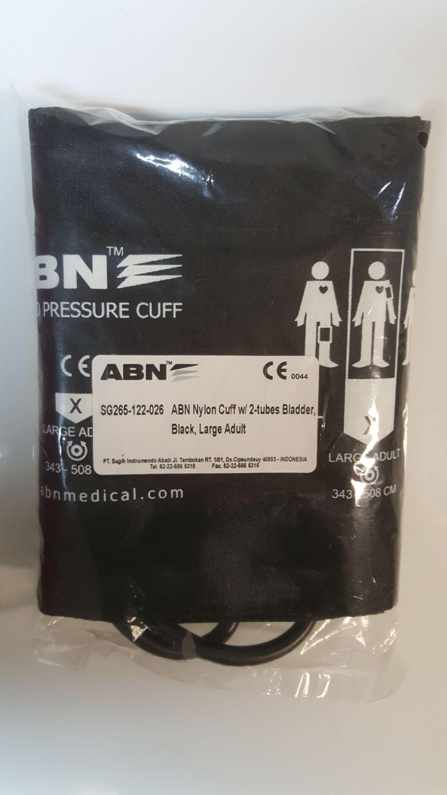 ABN ADULT CUFF AND BLADDER SET BURGUNDY 54CMx15CM EACH