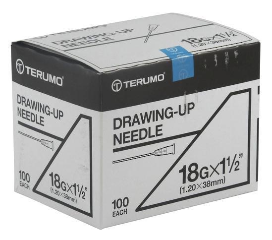 TERUMO NEEDLE 18Gx1 ½ DRAW UP AN1838N, BOX 100