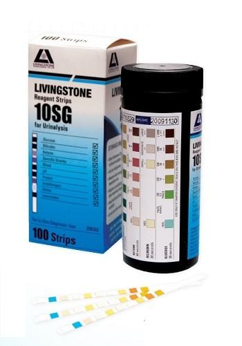 URINE REAGENT MULTI TEST SRIPS FOR URINALYSIS 10SG, PKT 100
