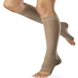 VENOSAN 6001 BELOW KNEE AD SMALL SHORT OPEN TOE BEIGE, PAIR