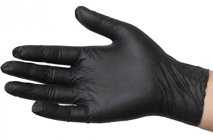 ACTICARE GLOVES NITRILE POWDER FREE BLACK LARGE, BOX 100