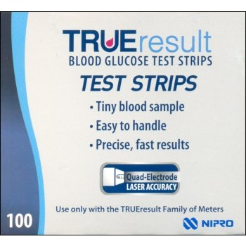 TRUERESULT GLUCOSE TEST STRIPS, PKT 100
