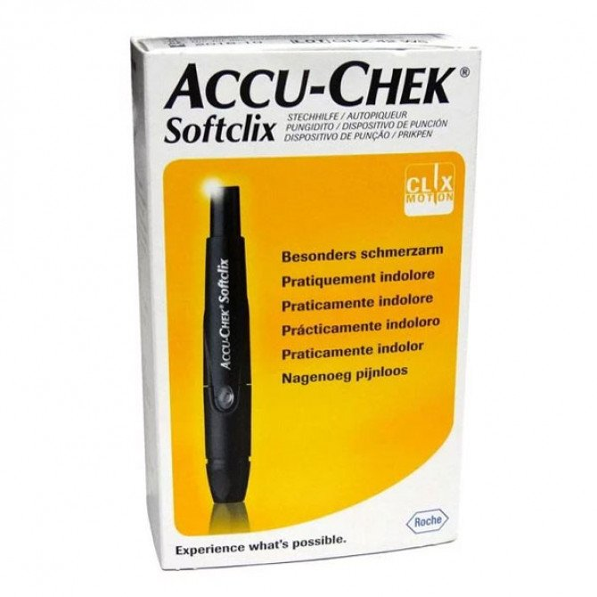 Accu-Chek Softclix Lancing Device With 25 Lancets