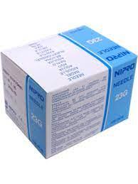 NIPRO NEEDLE 23G (0.6mm) x 1½ (38 mm), BOX 100