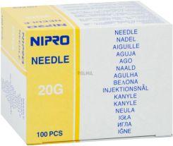 NIPRO NEEDLE 20G (0.9mm) x 1 (25 mm), BOX 100