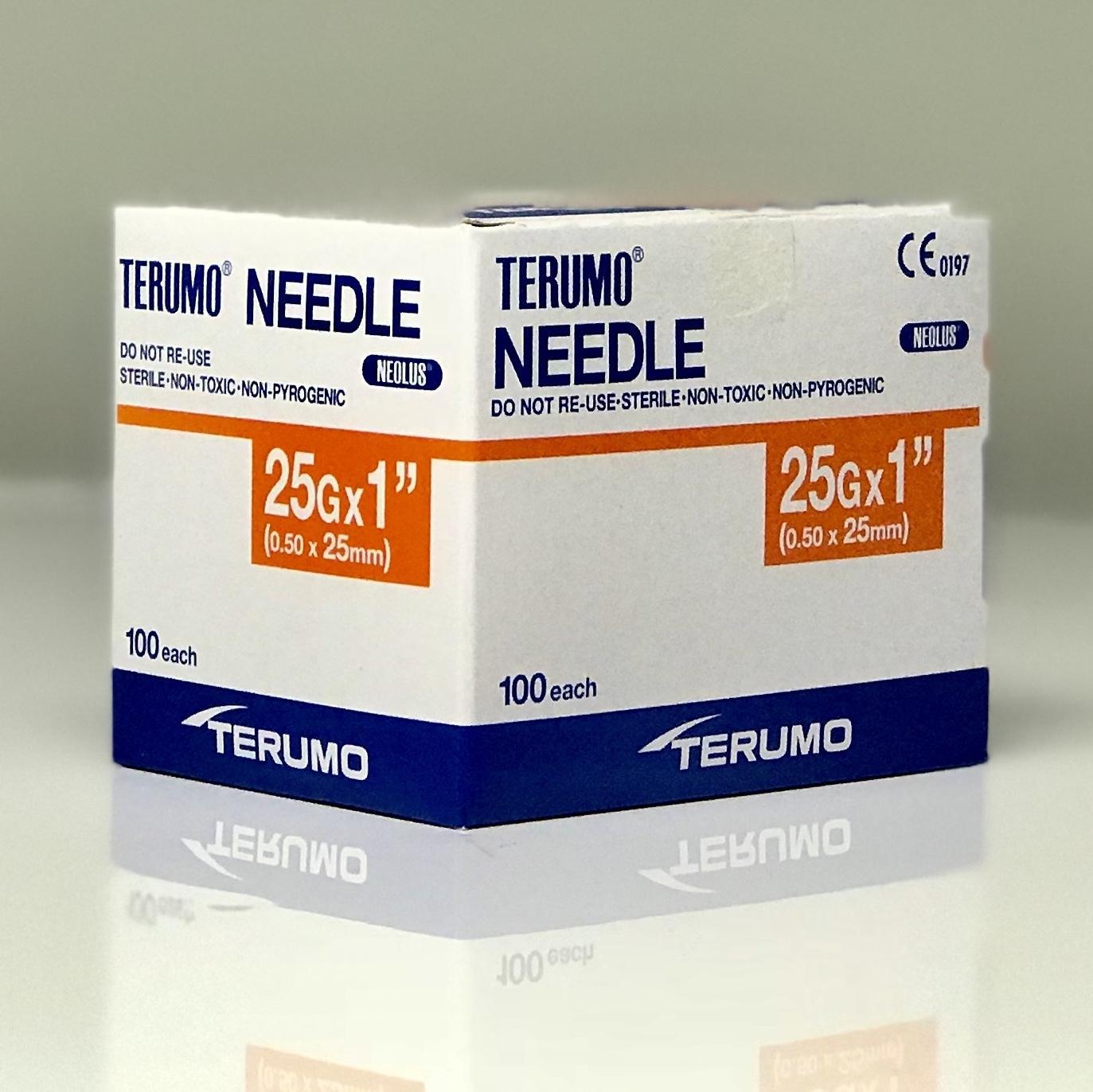 TERUMO NEEDLE 25Gx25MM NN2525RL, BOX 100