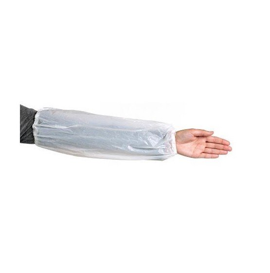 DISPOSABLE SLEEVES WHITE, PKT 100