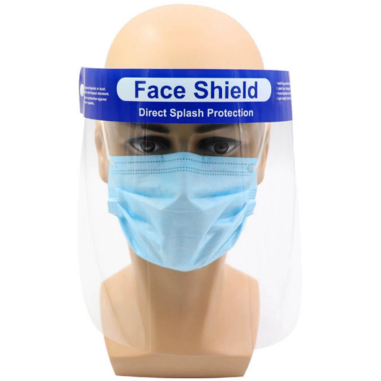 FACE SHIELD SPLASH RESISTANT 33CM x 22CM. EACH