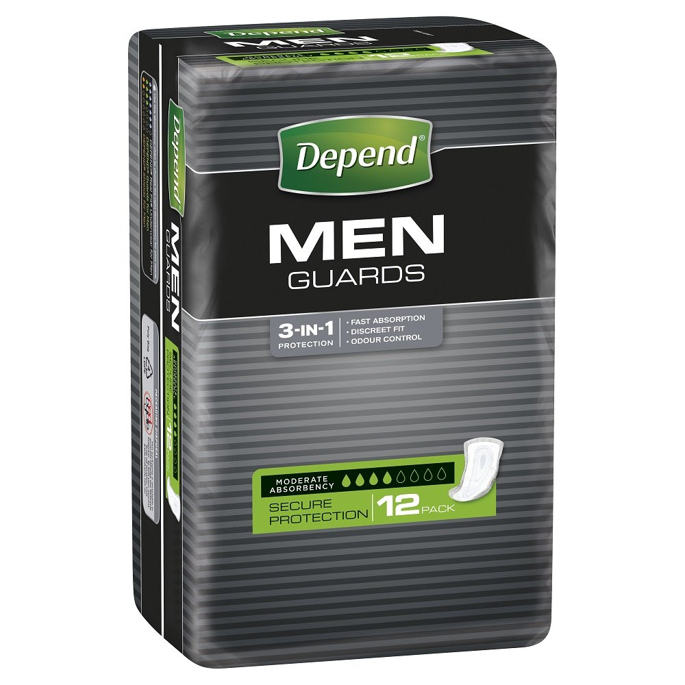 DEPEND GUARDS FOR MEN 19068, PKT 15