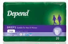 Depend Brief Norm Medium 19743, Pkt 20